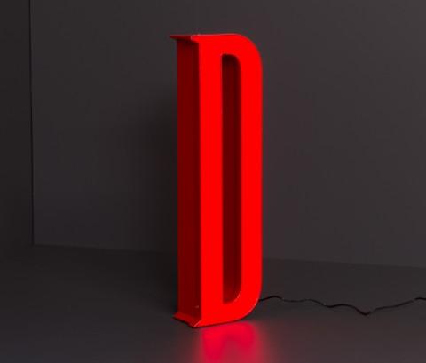 LED-Leuchtbuchstabe-d
