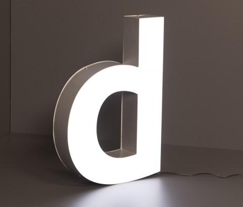 LED Leuchtbuchstabe: d