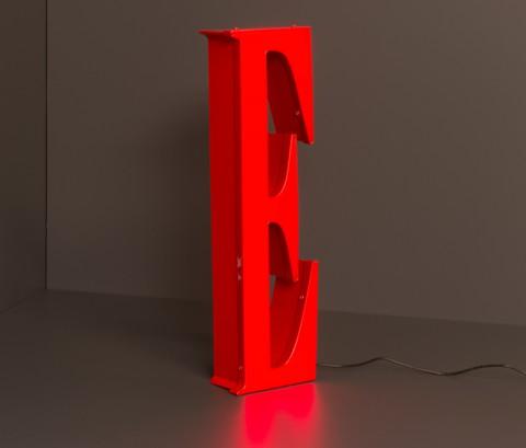LED Leuchtbuchstabe: E